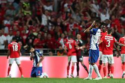 October 7, 2018 - Lisbon, Portugal - Porto's Mexican forward Jesus Corona reacts after the Portuguese League football match SL Benfica vs FC Porto at the Luz stadium in Lisbon on October 7, 2018. (Credit Image: © Pedro Fiuza/ZUMA Wire)
