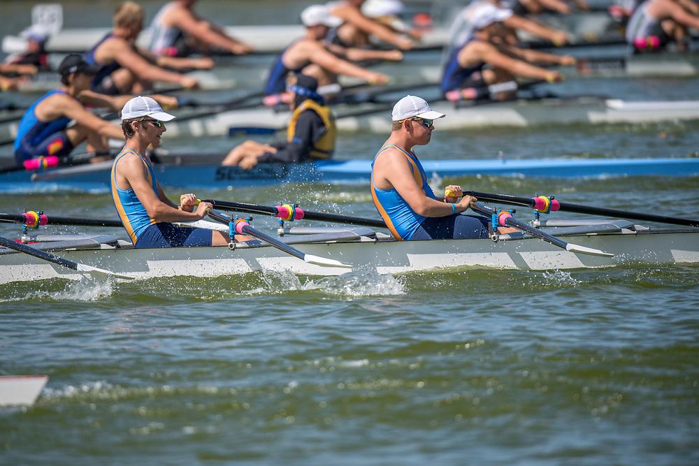Crews competing at the Canterbury Juniors on Saturday 2 March 2019, Lake Hood, Ashburton.<br /> <br /> © Copyright photo Steve McArthur / @RowingCelebration   www.rowingcelebration.com