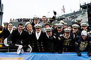 6 Dec 2008: Navy fans celebrate after the Army / Navy game December 6th, 2008.  The Navy won 34-0 at Lincoln Financial Field in Philadelphia, Pennsylvania.