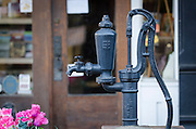 An old pump on Main Street in downtown Sutter Creek, Amador County, California