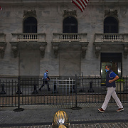 Wall Street in Manhattan, New York on October 2, 2020. John Taggart for The New York Times