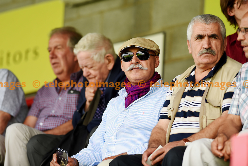 A fan dressed in style during the Sky Bet League 2 match between Crawley Town and Notts County at the Checkatrade Stadium in Crawley. August 27, 2016.<br /> Simon  Dack / Telephoto Images<br /> +44 7967 642437
