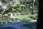 Gravestones in Trafalgar cemetery, Gibraltar, British terroritory in southern Europe