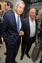 Left to right, SIR STUART ROSE and SIR PHILIP GREEN at a reception hosted by Vogue and Burberry to celebrate the launch of Fashions Night Out - held at Burberry, 21-23 Bond Street, London on 10th September 2009.