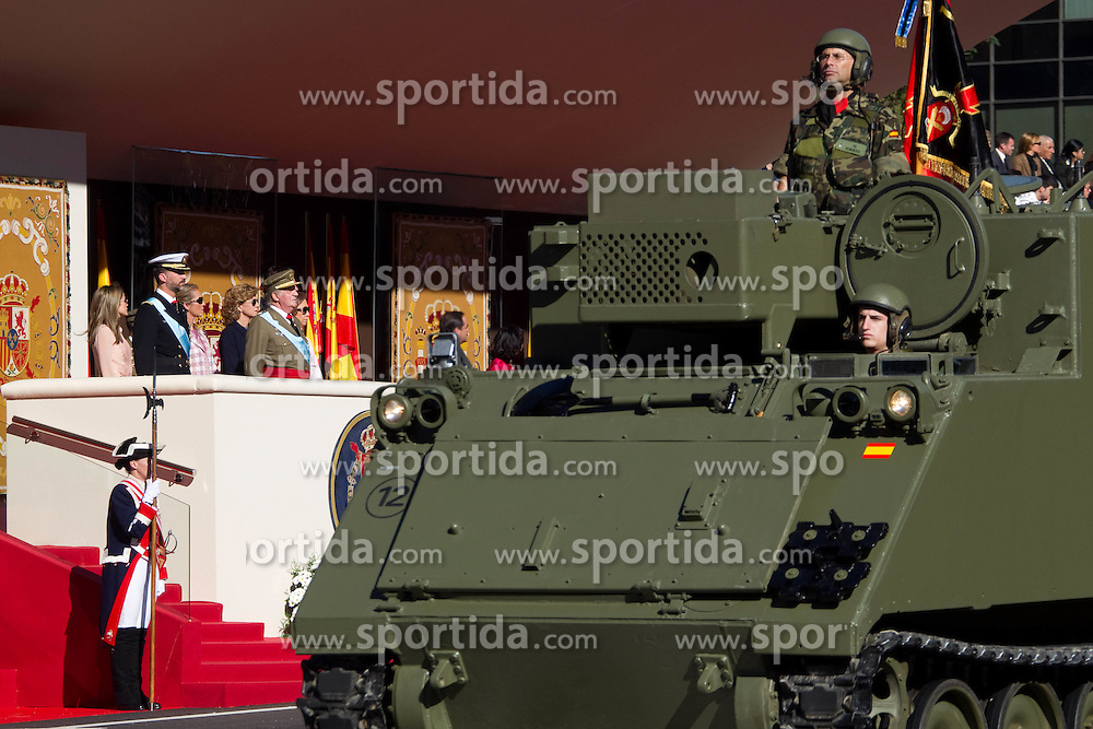 12.10.2010, Madrid, ESP, Spain National Day in Madrid, im Bild Princess Letizia, Prince Felipe, Princess Elena, Princess Cristina and Inaki Urdangarin, King Juan Carlos and Queen Sofia attend the military parade at Spain`s National Day in Madrid. EXPA Pictures © 2010, PhotoCredit: EXPA/ Alterphotos/ Cesar Cebolla +++++ ATTENTION - OUT OF SPAIN / ESP +++++