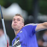 Ari Mannio, Finland, in action in the Men's Javelin competition during the Diamond League Adidas Grand Prix at Icahn Stadium, Randall's Island, Manhattan, New York, USA. 13th June 2015. Photo Tim Clayton