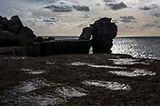 Pulpit Rock, Portland Bill, Dorset, UK.