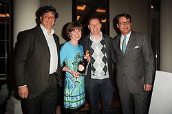 Left to right, Jeff Galvin; Sarah Galvin; Chris Galvin of La Chapelle winner of the 2010 Tatler Best Restaurant Award and Jeremy Wayne at the Tatler Restaurant Awards, at the Langham Hotel, Portland Place, London n 10th May 2010.