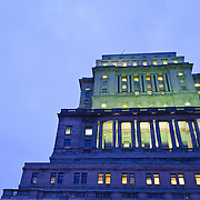 When completed in 1933, the Sun Life Building in downtown Montreal was the largest building in the British Empire (at 112,500 square metres). It was considered the financial bastion or Canada and signaled one of the first major corporations to move from Old Montreal up the hill to the new downtown area. It is situated opposite the Mary Queen of the World Cathedral, a symbolic location.