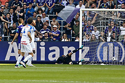 May 20, 2018 - France - Dries Wouters defender of KRC Genk scores  during the Jupiler Pro League play off 1 match (Credit Image: © Panoramic via ZUMA Press)