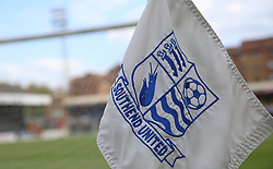 A general view of a Southend United branded corner flag - Mandatory by-line: Joe Dent/JMP - 20/08/2019 - FOOTBALL - Roots Hall - Southend-on-Sea, England - Southend United v Peterborough United - Sky Bet League One