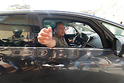 Italy, Locri (Reggio Calabria)  October 4, 2018.Domenico Lucano, Mayor of Riace arrested for allegedly aiding illegal immigration..Mayor Domenico Lucano as he comes out of the court of Locri  today Thursday October 4, 2018. (Credit Image: © Angilletta Albano/Ropi via ZUMA Press)