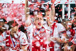15-05-2019 NED: De Graafschap - Ajax, Doetinchem<br /> Round 34 / It wasn't really exciting anymore, but after the match against De Graafschap (1-4) it is official: Ajax is champion of the Netherlands / Daley Blind #17 of Ajax, Donny van de Beek #6 of Ajax, Matthijs de Ligt #4 of Ajax