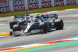 May 11, 2019 - Barcelona, Catalonia, Spain - Mercedes driver Valtteri Bottas (77) of Finland and Mercedes driver Lewis Hamilton (44) of Great Britain during F1 Grand Prix qualifying celebrated at Circuit of Barcelona 11th May 2019 in Barcelona, Spain. (Credit Image: © Mikel Trigueros/NurPhoto via ZUMA Press)