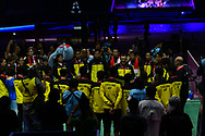BANGKOK, THAILAND - MAY 26: Team Thailand on Court 1 with their gold medals after the Medals Presentation at the BWF Total Thomas and Uber Cup Finals 2018, Impact Arena, Bangkok, Thailand on May 26, 2018.<br /> .<br /> .<br /> .<br /> (Photo by: Naratip Golf Srisupab/SEALs Sports Images)<br /> .<br /> Any image use must include a mandatory credit line adjacent to the content which should read: Naratip Golf Srisupab/SEALs Sports Images