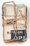 package with photographic negative envelopes Japan ca 1950s
