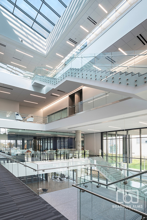 Interior shot of Glass Hall at Missouri State University in Springfield, MO.
