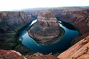 elevated view of Horseshoe Bend Colorado River Arizona USA
