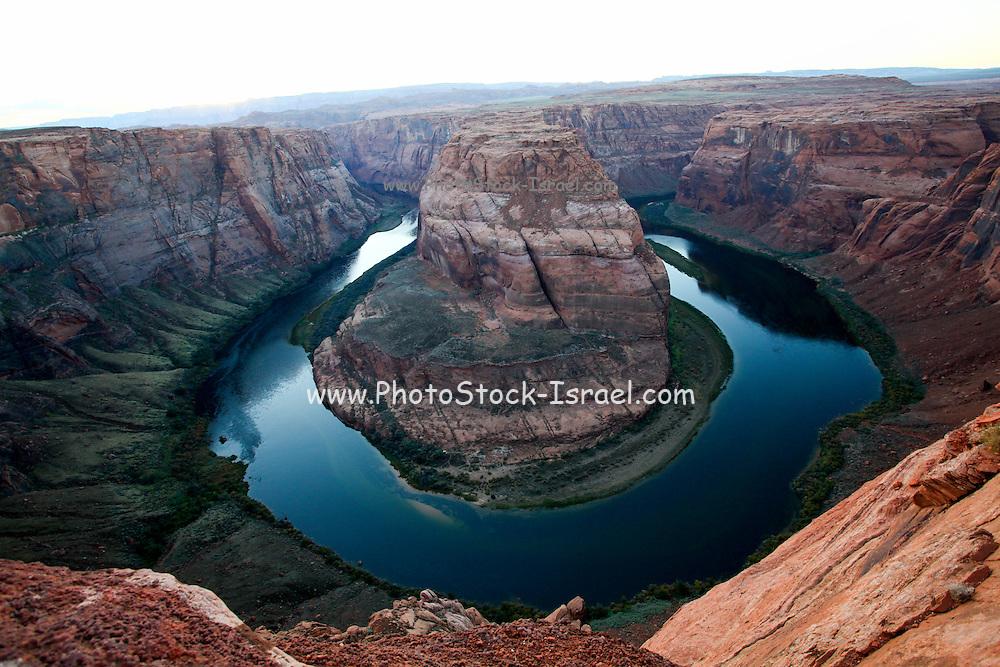 elevated view of Horseshoe Bend Colorado River Arizona USA