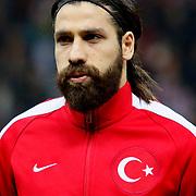 Turkey's Olcay Sahan during their UEFA Euro 2016 qualification Group A soccer match Turkey betwen Kazakhstan at AliSamiYen Arena in Istanbul November 16, 2014. Photo by Kurtulus YILMAZ/TURKPIX