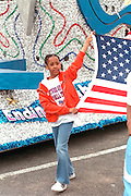 Marcher age 11 performing at the Cinco de Mayo festival.  St Paul Minnesota USA