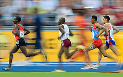 Eliud Kipchoge of Kenya competes in the men's 5000 Metres 1st Round during day six of the 12th IAAF World Athletics Championships at the Olympic Stadium on August 20, 2009 in Berlin, Germany. (Photo by Vid Ponikvar / Sportida)