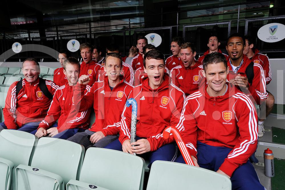 MELBOURNE - Champions Trophy men 2012<br /> England on a tour of the MCG<br /> Foto: In d stands.<br /> FFU PRESS AGENCY COPYRIGHT FRANK UIJLENBROEK