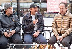 01.12.2017, Vail, USA, FIS Weltcup Ski Alpin, Beaver Creek, Pressekonferenz Bode Miller, im Bild v.l. Steve Porinoc(NBC Sport), Bode Miller (USA) // f.l. Steve Porinoc(NBC Sport) Bode Miller of the USA during a Pressconference of Bode Miller during the FIS Ski Alpine World Cup in Vail, United Staates on 2017/12/01. EXPA Pictures © 2017, PhotoCredit: EXPA/ Johann Groder