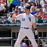 Chicago, IL - June 05, 2011:  Adam Dunn (32) bats against the visiting Detroit Tigers at U.S. Cellular Field on June 5, 2011 in Chicago, IL.