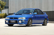 2000 MY00 Subaru Impreza WRX - WR Blue.Shot on location in Port Melbourne.10th December 2005.(C) Joel Strickland Photographics.Use information: This image is intended for Editorial use only (e.g. news or commentary, print or electronic). Any commercial or promotional use requires additional clearance.