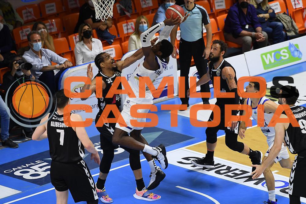 Krubally Ousman<br /> Happy Casa Brindisi - Segafredo Virtus Bologna<br /> Semifinali - Gara 2<br /> Legabasket Serie A UnipolSAI 2020/2021<br /> Brindisi, 25/05/2021<br /> Foto GiulioCiamillo/ Ciamillo-Castoria