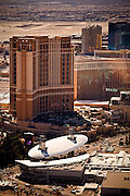Aerial view of the Fashion Show shopping mall on the strip Las Vegas, Nevada