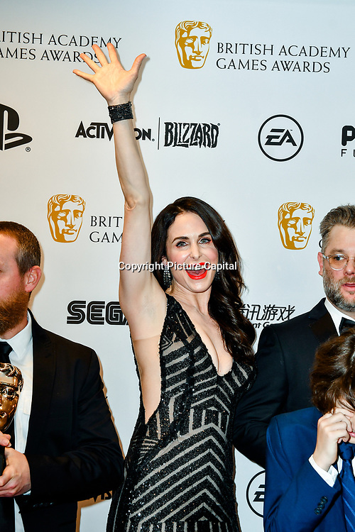 Winner: God of War byTeams at the British Academy (BAFTA) Games Awards at Queen Elizabeth Hall, Southbank Centre  on 4 March 2019, London, UK.