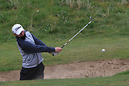 Joshua Hill (Galgorm Castle) the 18th during Round 3 of the Ulster Boys Championship at Donegal Golf Club, Murvagh, Donegal, Co Donegal on Friday 26th April 2019.<br /> Picture:  Thos Caffrey / www.golffile.ie