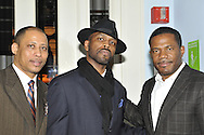 January 11, 2012 - Brooklyn, New York, USA: Singer E-Uneek (center) after singing at 2nd Annual Interfaith Memorial Service for Haiti, Wednesday night at Brooklyn Borough Hall. The service was held two years after the Mw 7.0 earthquake at Haiti.