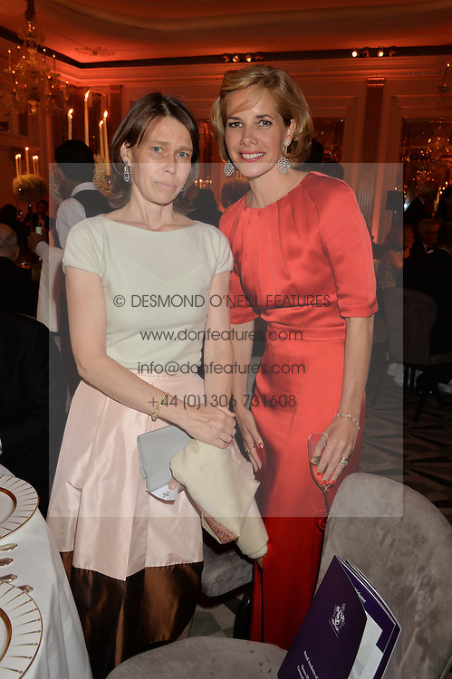 Left to right, LADY SARAH CHATTO and DARCEY BUSSELL at a dinner hosted by the Royal Academy of Dance to present the Queen Elizabeth II Award 2014 held at Claridge's, Brook Street, London on 4th September 2014.