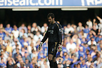 Photo: Lee Earle.<br /> Chelsea v Bolton Wanderers. The Barclays Premiership.<br /> 15/10/2005 Chelsea keeper Petr Cech looks dejected after Bolton took an early lead.