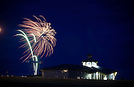 Grande Prairie, Alta..Photo Randy Vanderveen.Fireworks explode above Centre 2000 in Grande Prairie.