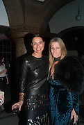 Yana Peel; Yvonne Force Villareal, DINNER TO CELEBRATE THE ARTISTS OF FRIEZE PROJECTS AND THE EMDASH AWARD 2012 hosted by ANDREA DIBELIUS founder EMDASH FOUNDATION, AMANDA SHARP and MATTHEW SLOTOVER founders FRIEZE. THE FORMER CENTRAL ST MARTIN'S SCHOOL OF ART AND DESIGN, SOUTHAMPTON ROW, LONDON WC1. 11 October 2012