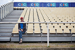 First fan in the stands for GP de Plouay - Lorient Agglomération Trophée WNT, a 128 km road race in Plouay, France on August 31, 2019. Photo by Sean Robinson/velofocus.com
