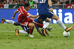 SINGAPORE, July 25, 2017  Bayern Munich's James Rodriguez (L) competes during the International Champions Cup soccer match between Chelsea and Bayern Munich in Singapore's National Stadium, on July 25, 2017. Bayern Munich won 3-2. (Credit Image: © Then Chih Wey/Xinhua via ZUMA Wire)