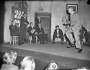 Cast of play - Special for Gael Linn .14/05/1958 . Dancing, on stage, Accordian, music,