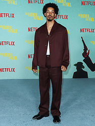 Actor Melvin Gregg arrives at the Los Angeles Premiere Of Netflix's 'The Harder They Fall' held at the Shrine Auditorium and Expo Hall on October 13, 2021 in Los Angeles, California, United States. Photo by Xavier Collin/Image Press Agency/ABACAPRESS.COM