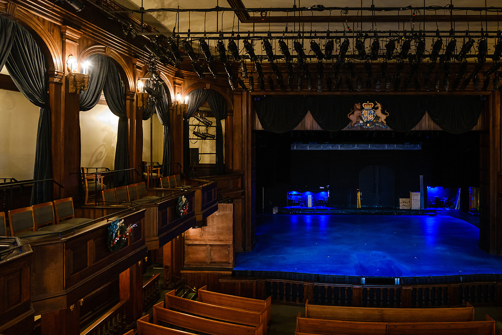 CHARLESTON, SOUTH CAROLINA - CIRCA DECEMBER 2019: Interior of the Dock Street Theatre in the French Quarter of Charleston