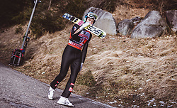 12.01.2019, Stadio del Salto, Predazzo, ITA, FIS Weltcup Skisprung, Val di Fiemme, Herren, 1. Wertungsdurchgang, im Bild Philipp Aschenwald (AUT) // Philipp Aschenwald of Austria before his 1st Competition Jump for the Four Hills Tournament of FIS Ski Jumping World Cup at the Stadio del Salto in Predazzo, Italy on 2019/01/12. EXPA Pictures © 2019, PhotoCredit: EXPA/ JFK