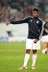 23.10.2012, Grand Stade Lille Metropole, Lille, OSC Lille vs FC Bayern Muenchen, im Bild David ALABA (FC Bayern Muenchen - 27) Freisteller Aufwärmen // during UEFA Championsleague Match between Lille OSC and FC Bayern Munich at the Grand Stade Lille Metropole, Lille, France on 2012/10/23. EXPA Pictures © 2012, PhotoCredit: EXPA/ Eibner/ Gerry Schmit..***** ATTENTION - OUT OF GER *****
