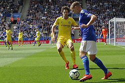 May 12, 2019 - Leicester, England, United Kingdom - Leicester City midfielder Marc Albrighton on the ball with Marcos Alonso of Chelsea during the Premier League match between Leicester City and Chelsea at the King Power Stadium, Leicester on Sunday 12th May 2019. (Credit Image: © Mi News/NurPhoto via ZUMA Press)