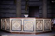 Baptismal font in Baptistery of St. John, San Giovanni Baptistery, Pisa, Italy in 1999