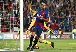October 24, 2018 - Barcelona, Spain - Rafinha goal celebration during the match between FC Barcelona and Inter, corresponding to the week 3 of the group stage of the UEFA Champions Leage, played at the Camp Nou Stadium, on 24th October 2018, in Barcelona, Spain. (Credit Image: © Joan Valls/NurPhoto via ZUMA Press)