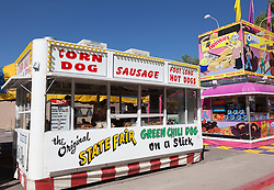 food stands at a state fair in New Mexico